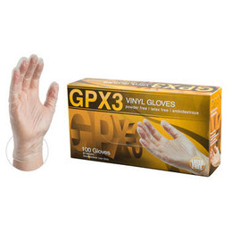 AMMEX GPX3 Clear Vinyl Industrial Latex Free Disposable Gloves