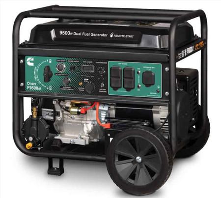 Cummins - Onan P9500df Dual Fuel (Gas/LPG) Portable Generator