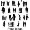 Silhouette pose ideas for jewelry