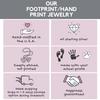 Footprint and Handprint jewelry information