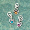 Heart Swirl Charm with Birthstone - October