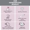 Gold Angel Wing Handwriting Bracelet