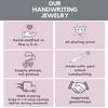 Handwriting jewelry info