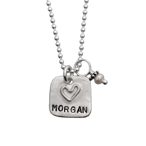Love Squared Name Necklace