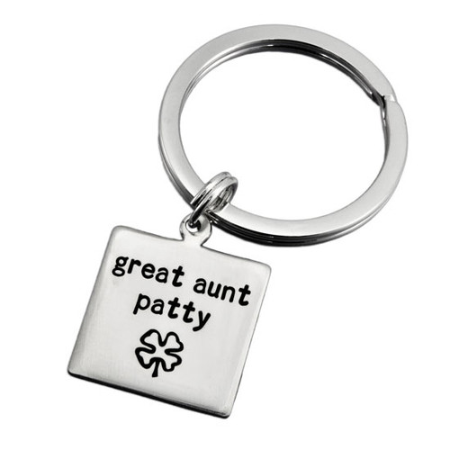 Square Life Aunt Key Ring