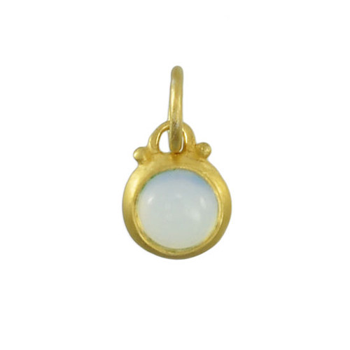 October moonstone with gold