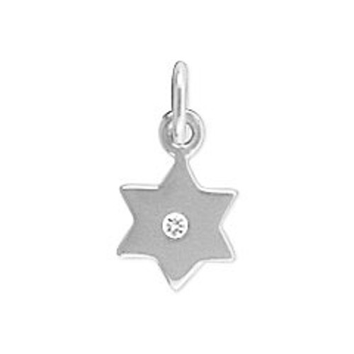 Star of David charm with 1 point diamond