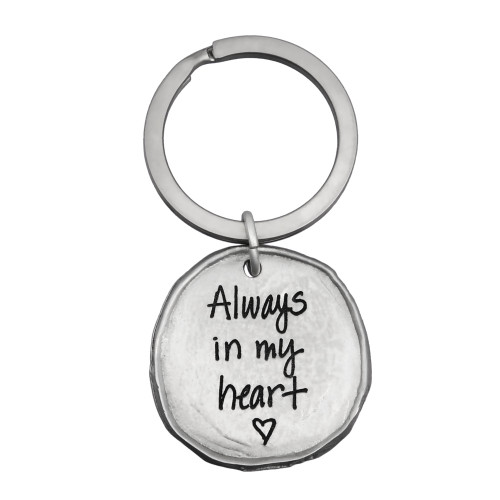 Fine pewter handwriting key ring