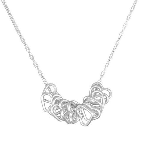 Tiny hearts milestone necklace