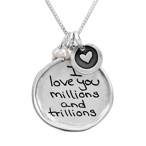 Custom Sculpted Raised Edge Circle Handwriting Necklace, personalized with handwritten message from husband for anniversary