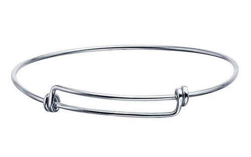 Classic adjustable bangle bracelet sterling silver expandable