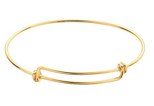 Classic adjustable bangle bracelet gold expandable