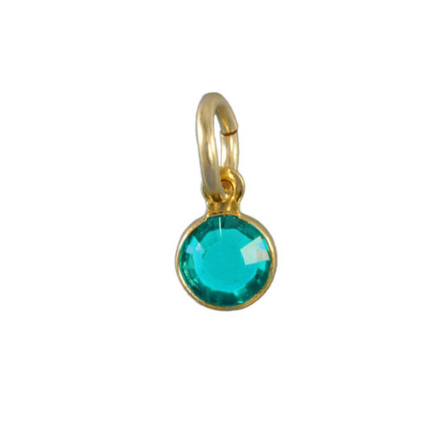 Classic Swarovski Birthstone in Gold- December