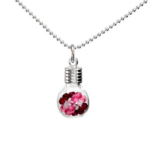 Glass Vials of Birthstones Necklace