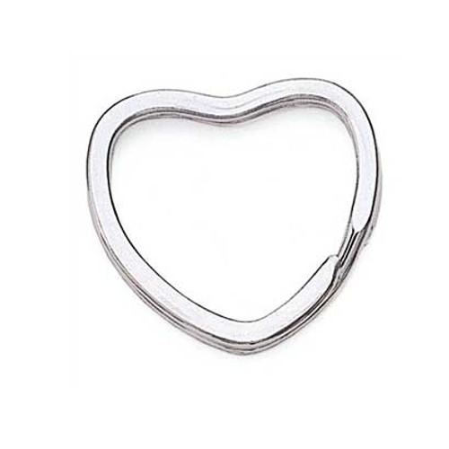 Heart Shaped Nickel Key Ring