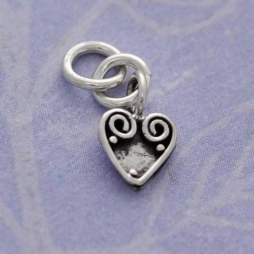 Heart Swirl Charm