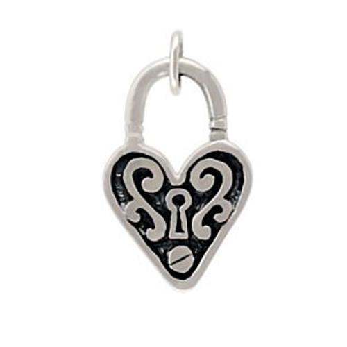 Large Heart with Keyhole Charm