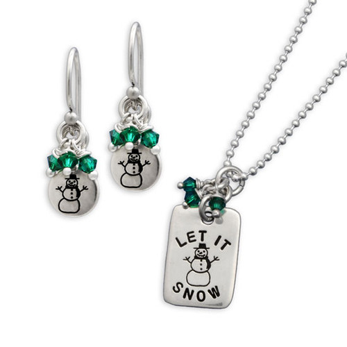 Let It Snow Necklace and Earring Set