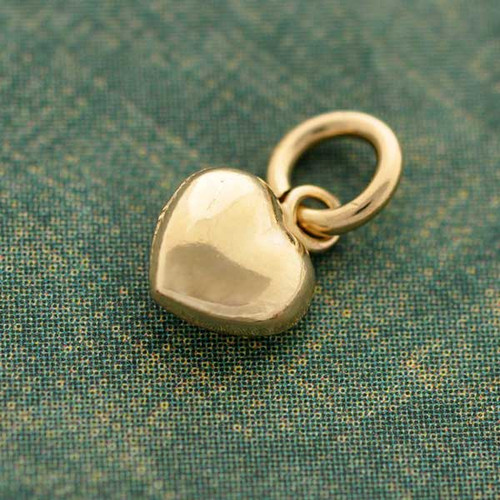 Puffed Heart Gold-Filled Charm