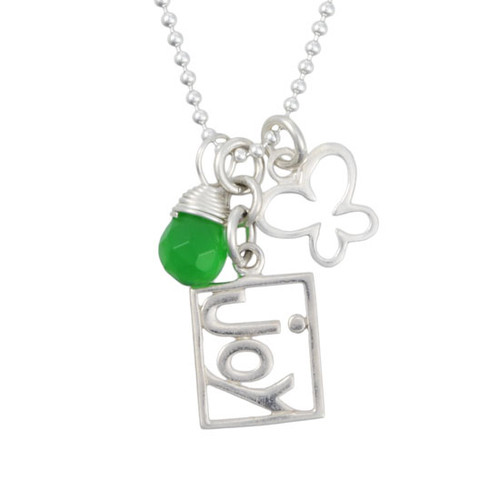 Joy cutout necklace