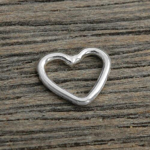 silver Small Heart Loop