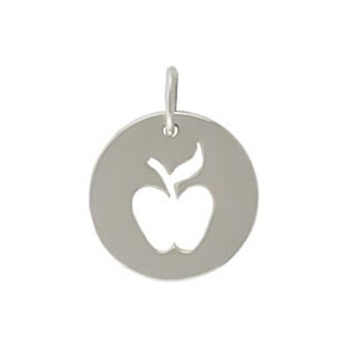 Sterling Apple Cutout Disc