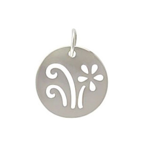 Sterling Silver Grow Cutout Disc
