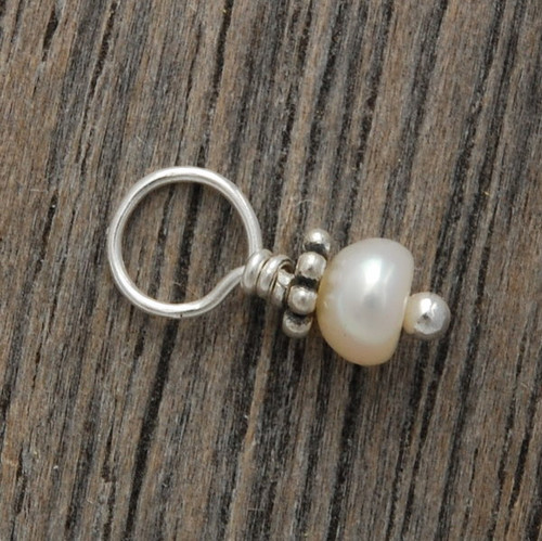 Tiniest Fresh Water Pearl with Bali Flower (June)