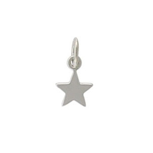 Sterling Silver Tiny Flat Star Charm