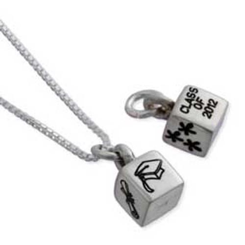 Grad necklace cube