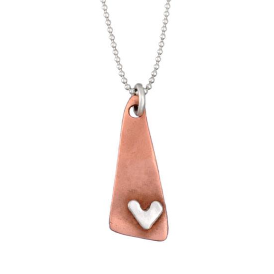 Subtle Devotion Triangle Necklace