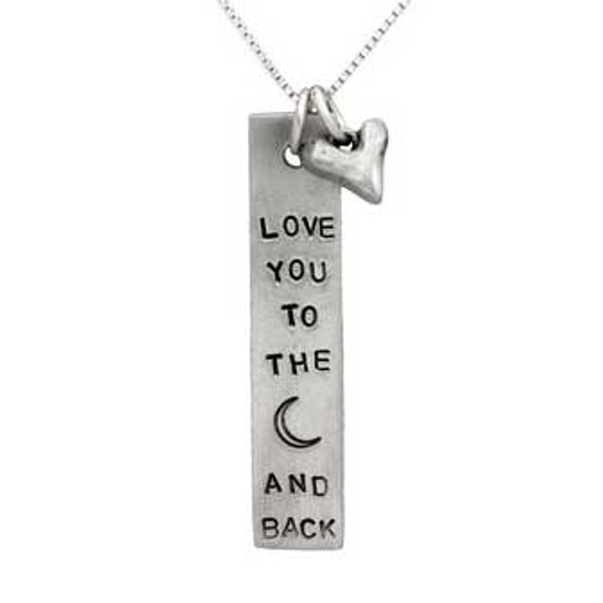 Moon & Back Rectangle with Heart
