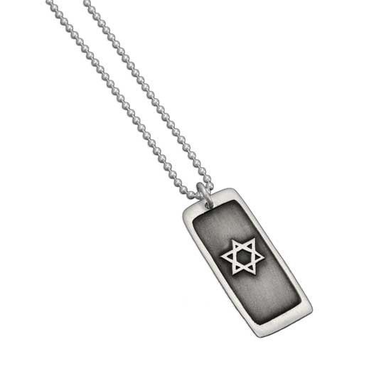 Etched Star of David Necklace