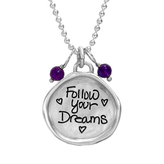 Follow your dreams sculpted necklace
