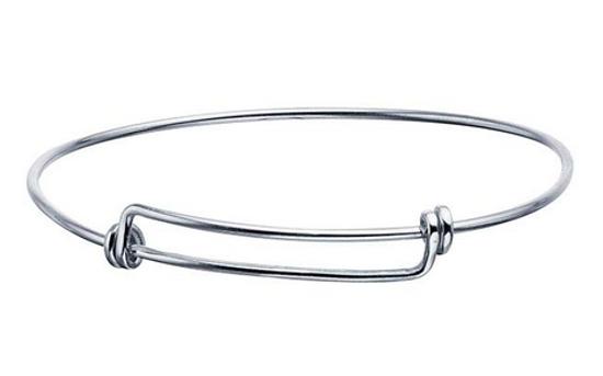 Classic adjustable bangle bracelet sterling silver expandable