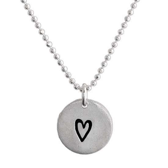 A Simple Thank You Necklace for a teacher, custom made from fine thai silver