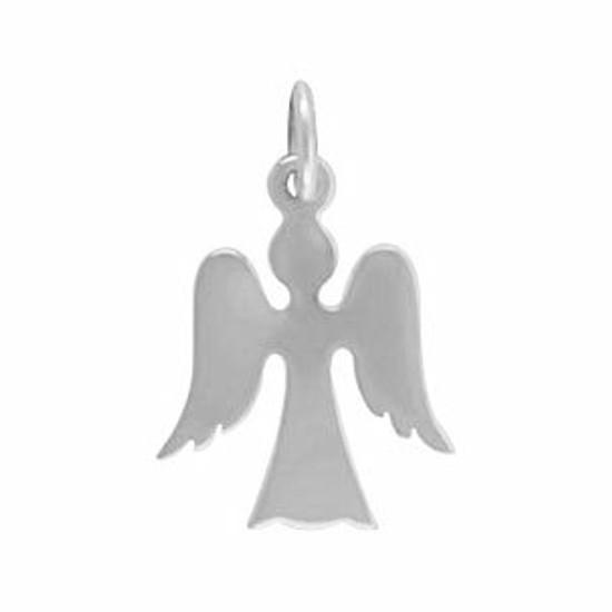 Silver Angel Silhouette Charm