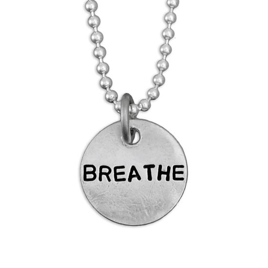 Close up of Breathe Necklace
