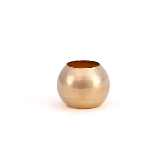 Gold Spacer Bead, shown on white