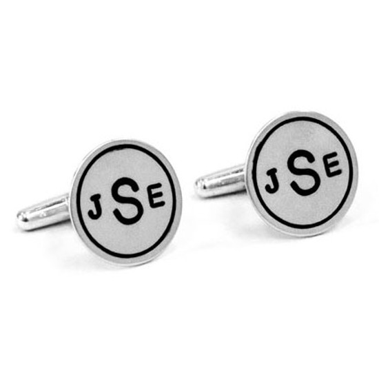 Monogram cuff links for groom gift