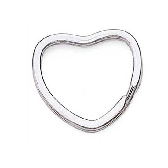 Heart Shaped Nickel Key Ring
