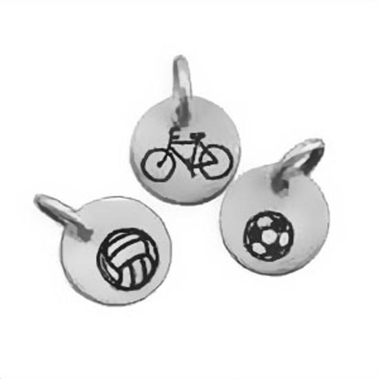 Sterling silver Mini Sports Symbol Charms