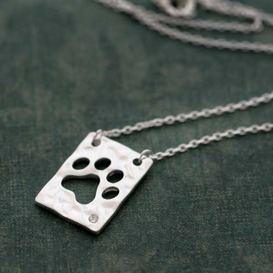 Paw Cutout Necklace