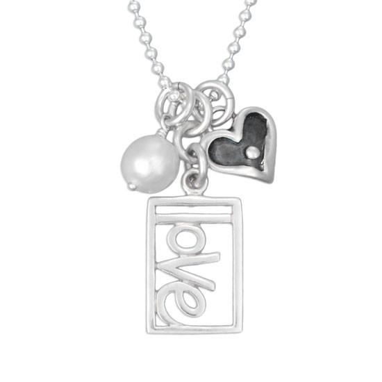 Rectangle Love Necklace