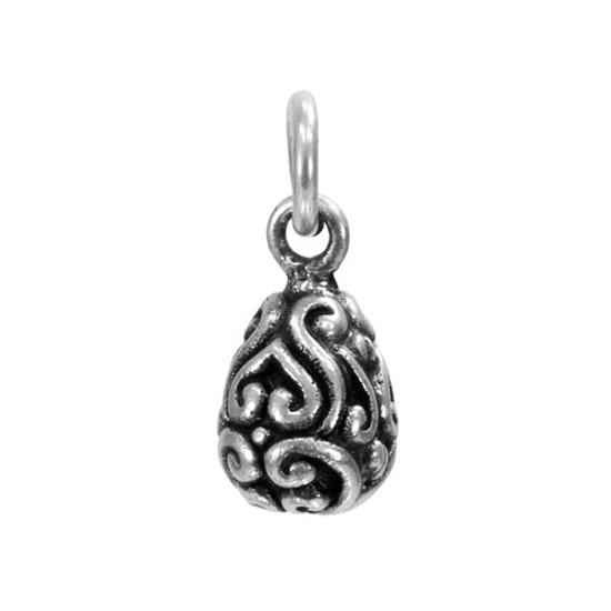 Solid Sterling Silver Swirl Drop