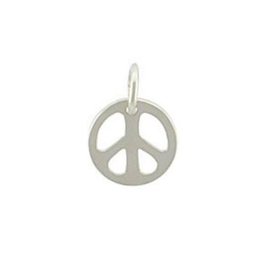 Tiny Sterling Peace Sign Charm