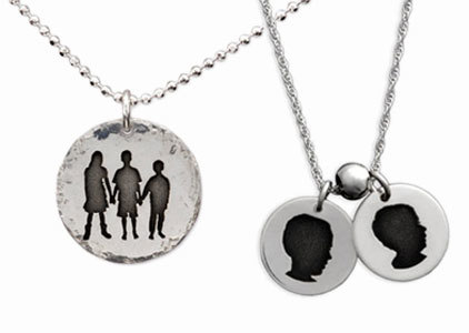 Silhouette and Cameo Necklaces