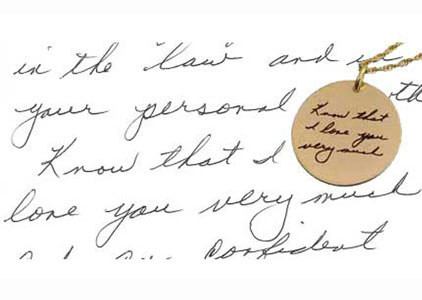 Handwriting Necklaces & Artwork Necklaces