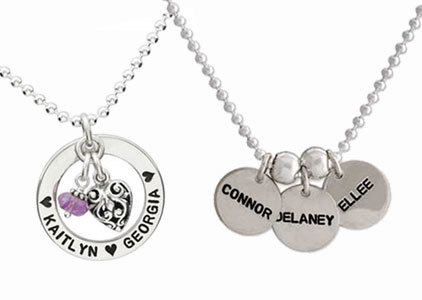 Hand Stamped Name Necklaces
