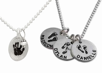 Handprint & Footprint Necklaces